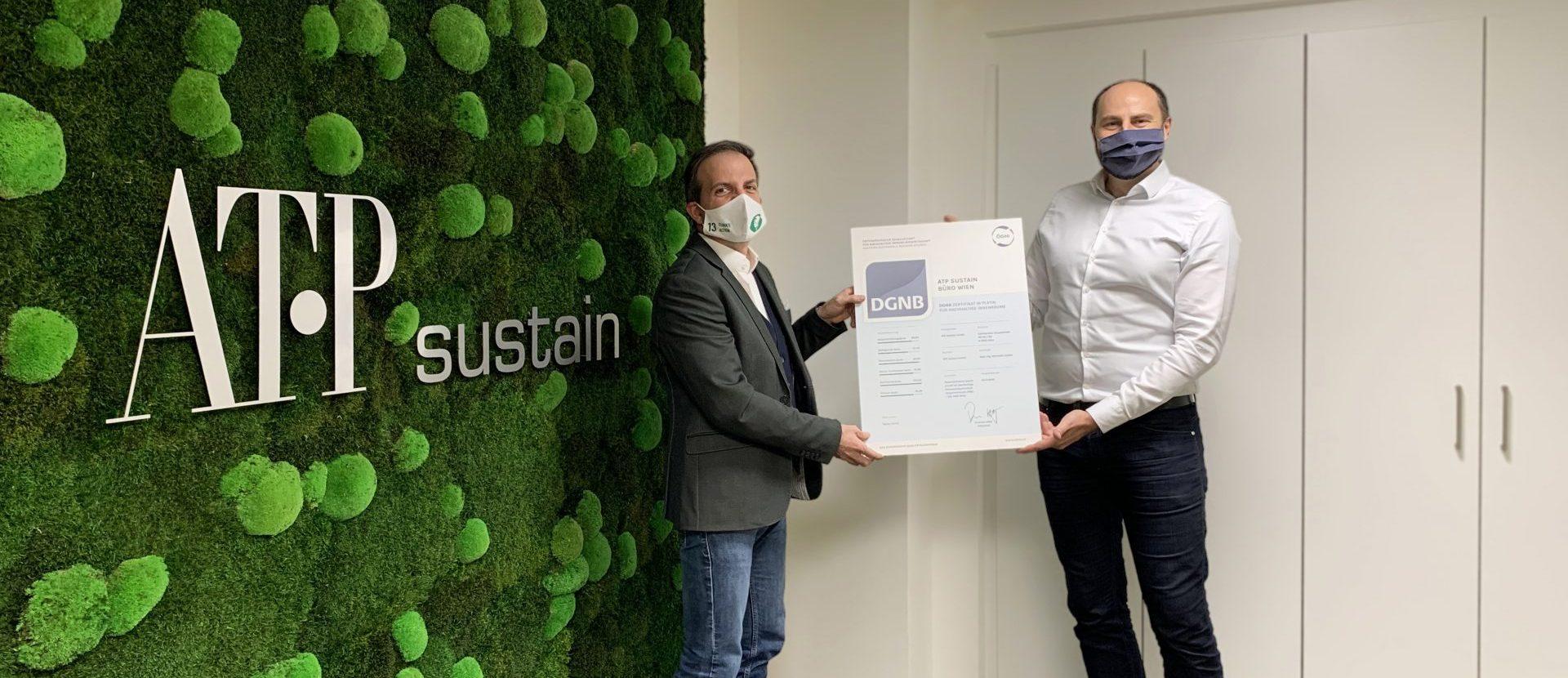 ATPsustain Büro Wien erhält ÖGNI Platin