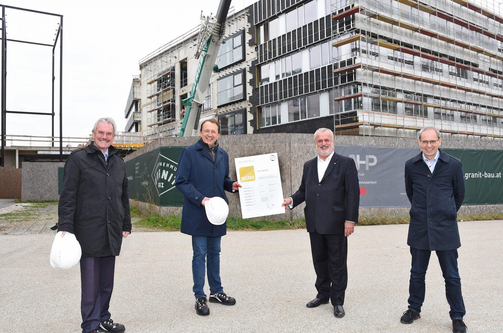 FH St. Pölten erhält ÖGNI GOLD Vorzertifikat